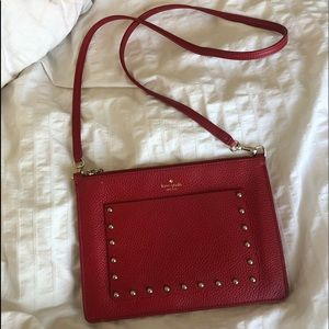 "Kate Spade ""on purpose studded zip crossbody"""